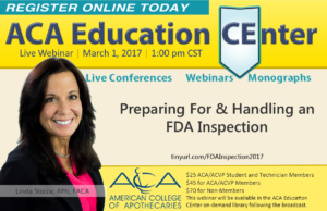 LIVE Webinar: Preparing For & Handling an FDA Inspection