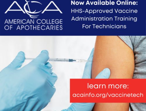 Now Available Online through ACA: HHS-Approved Vaccine Administration Training For Technicians