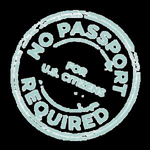 No Passport Required Stamp