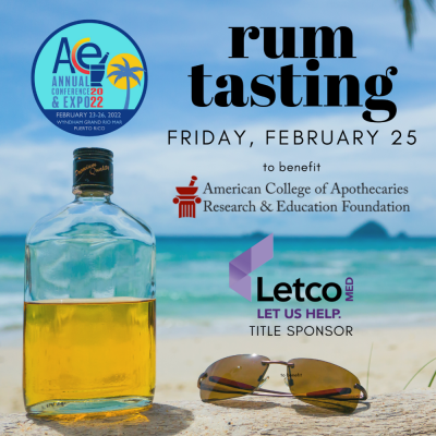 Rum Tasting Graphic Beach